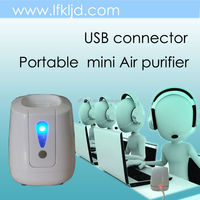 personal mini air purifier with USB connector