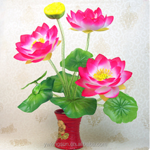 China Natural Eco-friendly Elegant Artificial Silk Cloth Lotus Flowers for All Festivals Wedding