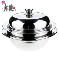 Stainless steel flying saucer hot pot soup pot