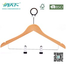 Betterall Anti Theft Hotel Wooden Shirt Hanger With Clips