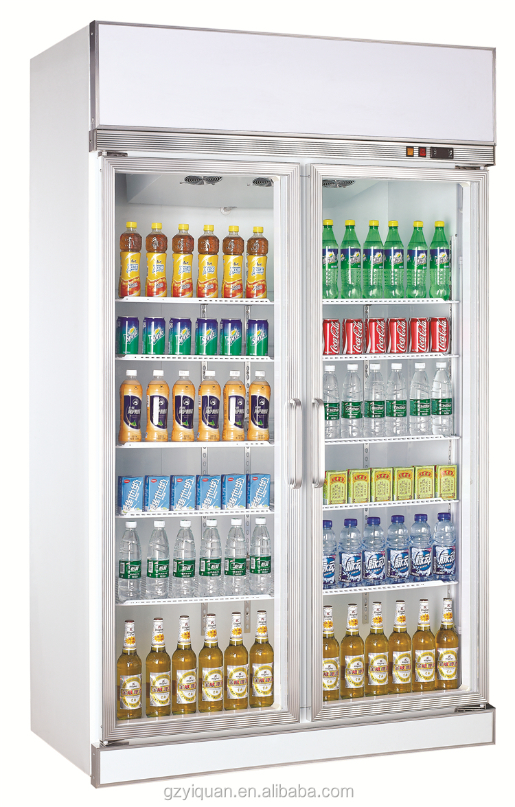Double doors glass soft drink display refrigerator showcase double doors showcase refrigeratorg publicscrutiny Image collections