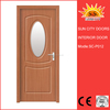 SC-P012 Laminated PVC MDF door wooden carving design
