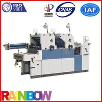 two color sheet fed lithographic printing machines with numbering and perforating