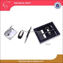 Business Gift Use 3 pieces pen key chain business card holder gift set