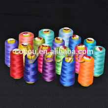 China Factory polyester high tenacity yarn 100% spun polyester uv resistant thread top quality poly core spun sewing thread 19/2