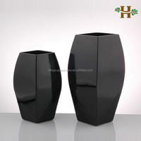 Hand Made Black Art Fashion Glass Vase for Home Decoration