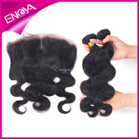 Fast Shipping Middle Part Lace Frontal With Cheap Remy Brazilian Human Hair Weaving