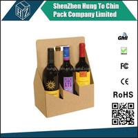Eco-friendly custom cardboard wine carrier box factory