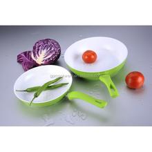 2014 Hot sale green color aluminum non-stick cookware set