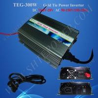 24V grid tie inverter 300W, solar on grid tie power converter, 10.5-28V DC to 90-150V/190-250V AC