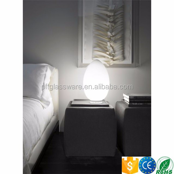rechargeable wireless egg led table lamps with remote