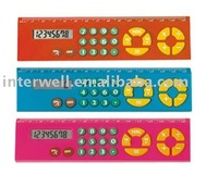 Promotional fancy calculator with ruler
