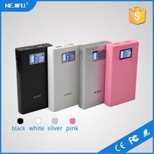 OEM/ODM fashion white/black/silver/pink circuit portable power bank