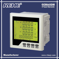 Free Sample Available Digital Panel Three Phase Digital Multimeter with RS-485 RH-3D9Y