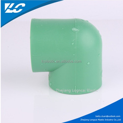 PPR Drainage Products PPR 90 Degree Elbow With Rubber/Equal Shape and Elbow Type PPR Pipe Fitting Sailing 90 Elbow