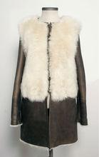 abrigo de piel de oveja genuino español