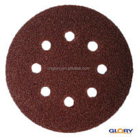 wholesale glass marbles red oxide velcro disc for polish machine