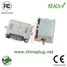 Posted anti 5pin smt type mini usb female connector