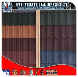 1340mm*420mm colorful stone chip coated steel roof tile