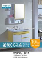 800*480mm Yellow Wall Corner Cabinet In Bathroom / Home Depot Bathroom Vanity Sets