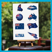 safe face body country flag temporary australia tattoo