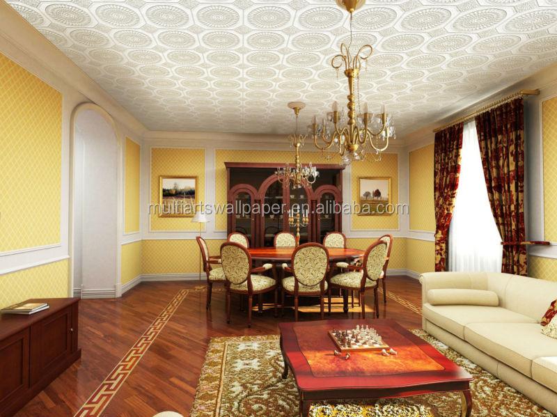 pvc papel pintado inicio para techos de alta calidad a la venta