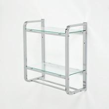 2 Tier Bathroom Rectangle Glass Shelf