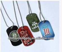 printing Dog tag, military tag, anodized pet tag customized