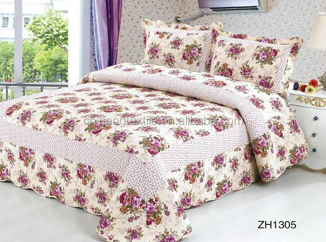 Chine produits 100 coton applique patchwork couvre lit - Patchwork modele gratuit dessus de lit ...