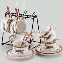ceramic gold plated coffee set tea set