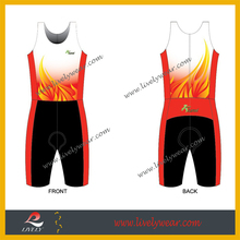 Custom Sublimation Lycra Spandex Triathlon Skin Suits/Lycra Speed Suit/Mens Triathlon Suits