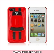 Transformers Racing Car Pattern Plastic Case for iphone 4S Red