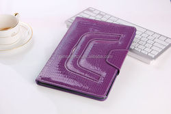 2015 New design croco pattern pu leather tablet case, tablet leather case,case for ipad