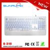New! Macro usb LED backlit gaming keyboard, 3 colors backlights with float keys