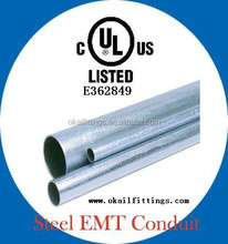 ul listed Galvanised Electrical EMT conduit/EMT pipe/EMT tube