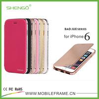 Wholesale Diamond PU Leather Flip Case for iPhone 6