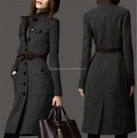 Ladies elegant winter coat long parka winter trench coats ladies wool long winter coats