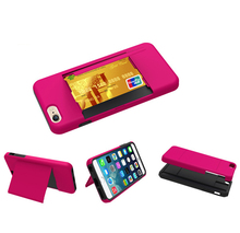 Paypal Accepted Slim Case For Iphone 6 Silicon Phone Cover / Name Card Case For Iphone 6 Kickstand Case