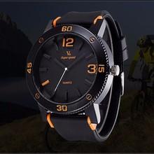 YX6062 Black Strap High Grade Waterproof Sport Wrist Watch Silicone