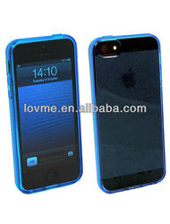 jelly gel crystal clear transparent tpu soft case back cover skin for apple iphone 5 5G