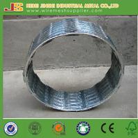 China supplier low price concertina razor barbed wire/razor blade barbed wire