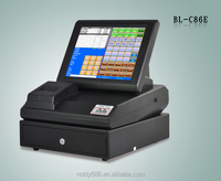 BL-C86E lower price POS hardware with touch screen ,thermal printer, cash drawer , software ,Operating system equipment