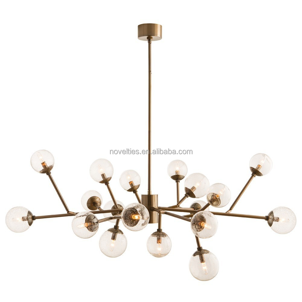 Italian Modern plating chandelier glass ball chandelier