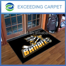 100% nylon or polyester printed logo mat with rubber backing