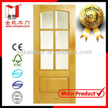 High quality glass insert solid wood door