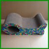 Leopard And Colorful Fish Shape Corrugated Cardboard Cat Scratcher Board Toy