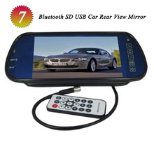 high definition digital panel color car rear view reversing camera screen mirror monitor with bluetooth mp5 and fm