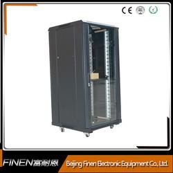 FINEN floor stand rack mount 19'' network rack cabinet 18u with glass door
