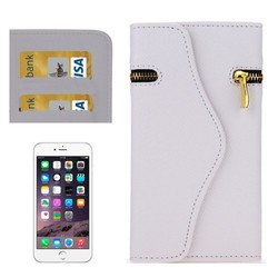 New Design Wallet Style Cross Texture Leather Case with Lanyard & Card Slots for iPhone 6