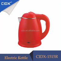 Kitchen Appliance Wholesale 1.8L Plastic Colorful Heat Insulated Water Kettle(CIDX-1515R)